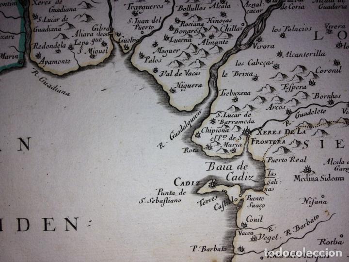 Arte: Gran mapa de Andalucía, Murcia, Valencia, Castilla..(España),1652. Nicolás Sanson/Mariette - Foto 12 - 137805086