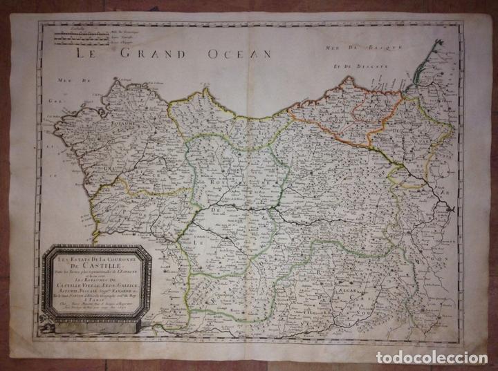 GRAN MAPA DE GALICIA, ASTURIAS, CANTABRIA, PAÍS VASCO... (ESPAÑA)1652. NICOLÁS SANSON/MARIETTE (Arte - Cartografía Antigua (hasta S. XIX))