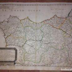 Arte: GRAN MAPA DE GALICIA, ASTURIAS, CANTABRIA, PAÍS VASCO... (ESPAÑA)1652. NICOLÁS SANSON/MARIETTE. Lote 137805938