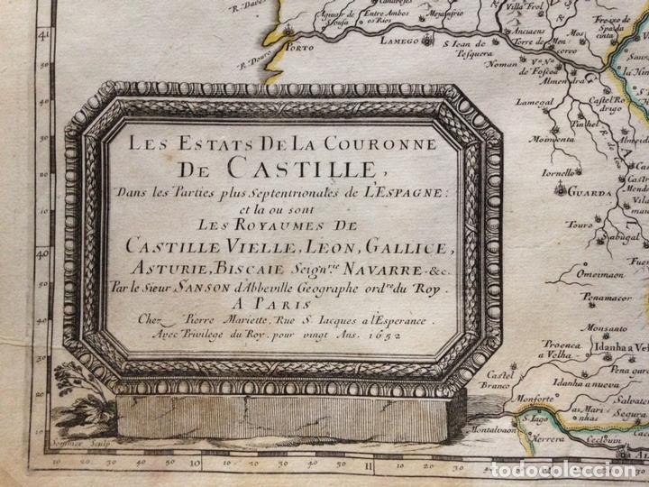 Arte: Gran mapa de Galicia, Asturias, Cantabria, País Vasco... (España)1652. Nicolás Sanson/Mariette - Foto 2 - 137805938