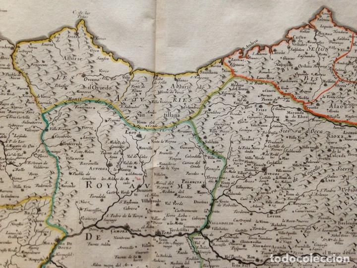 Arte: Gran mapa de Galicia, Asturias, Cantabria, País Vasco... (España)1652. Nicolás Sanson/Mariette - Foto 4 - 137805938