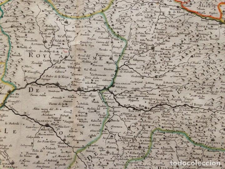 Arte: Gran mapa de Galicia, Asturias, Cantabria, País Vasco... (España)1652. Nicolás Sanson/Mariette - Foto 8 - 137805938