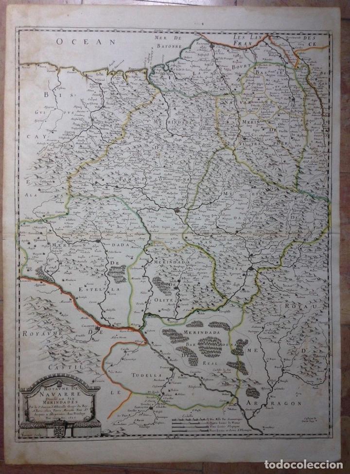 GRAN MAPA DEL REINO DE NAVARRA Y GUIPÚZCOA, PAIS VASCO (ESPAÑA), 1652. NICOLÁS SANSON/MARIETTE (Arte - Cartografía Antigua (hasta S. XIX))