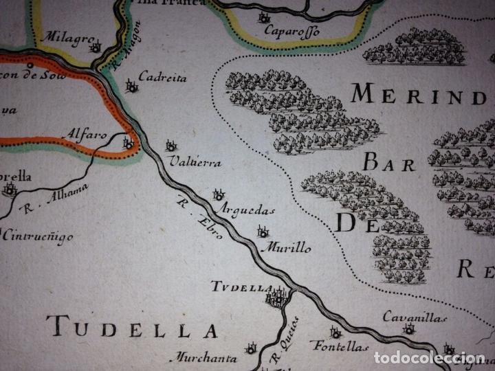 Arte: Gran mapa del Reino de Navarra y Guipúzcoa, Pais Vasco (España), 1652. Nicolás Sanson/Mariette - Foto 3 - 137807398