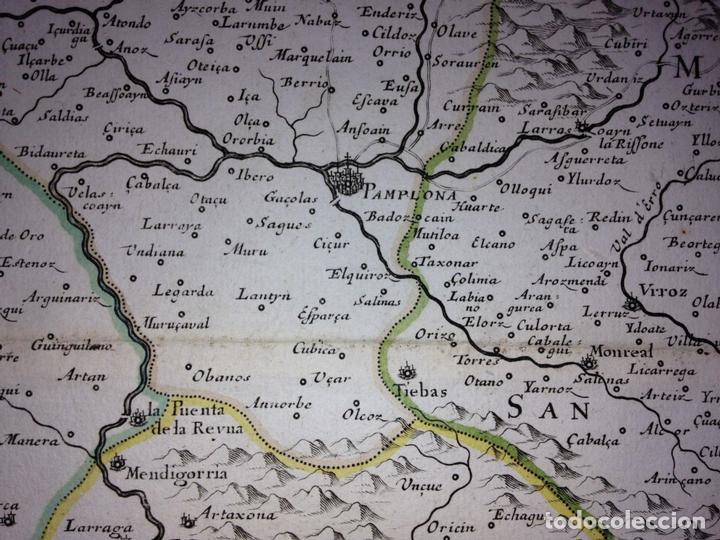 Arte: Gran mapa del Reino de Navarra y Guipúzcoa, Pais Vasco (España), 1652. Nicolás Sanson/Mariette - Foto 4 - 137807398