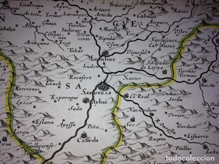 Arte: Gran mapa del Reino de Navarra y Guipúzcoa, Pais Vasco (España), 1652. Nicolás Sanson/Mariette - Foto 5 - 137807398