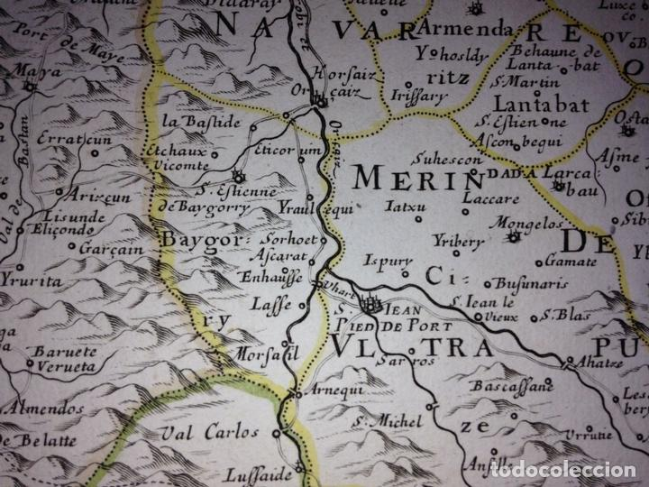 Arte: Gran mapa del Reino de Navarra y Guipúzcoa, Pais Vasco (España), 1652. Nicolás Sanson/Mariette - Foto 8 - 137807398
