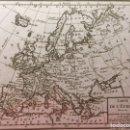Arte: MAPA EUROPA ANTIGUO- CA. 1790 - GRABADO EN COBRE. Lote 138577557