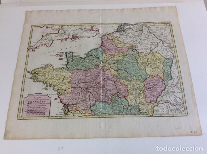 GRAN MAPA DEL NORTE DE FRANCIA (EUROPA), 1757. ISAAK TIRION (Arte - Cartografía Antigua (hasta S. XIX))