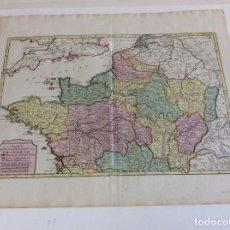 Arte: GRAN MAPA DEL NORTE DE FRANCIA (EUROPA), 1757. ISAAK TIRION. Lote 138674522