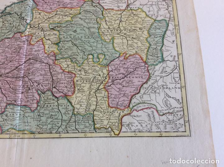 Arte: Gran mapa del norte de Francia (Europa), 1757. Isaak Tirion - Foto 5 - 138674522