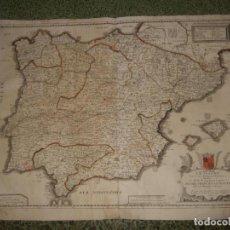Arte: GRAN MAPA DE ESPAÑA Y PORTUGAL, 1663. PIERRE DUVAL. Lote 138675046