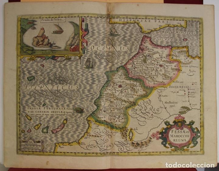 MAPA DE MARRUECOS (ÁFRICA), ISLAS CANARIAS (ESPAÑA) Y MADEIRA (PORTUGAL), 1620. HONDIUS/MERCATOR (Arte - Cartografía Antigua (hasta S. XIX))