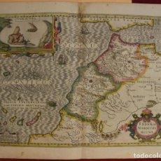 Arte: MAPA DE MARRUECOS (ÁFRICA), ISLAS CANARIAS (ESPAÑA) Y MADEIRA (PORTUGAL), 1620. HONDIUS/MERCATOR. Lote 138676626