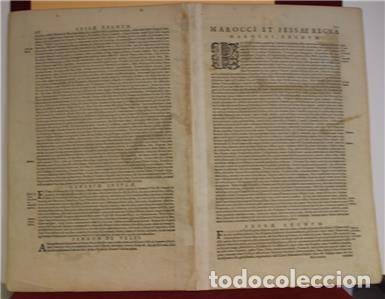 Arte: Mapa de Marruecos (África), islas Canarias (España) y Madeira (Portugal), 1620. Hondius/Mercator - Foto 4 - 138676626