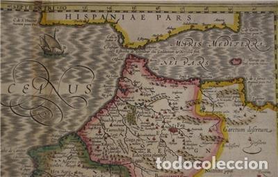 Arte: Mapa de Marruecos (África), islas Canarias (España) y Madeira (Portugal), 1620. Hondius/Mercator - Foto 8 - 138676626