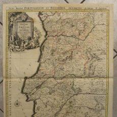 Arte: GRAN MAPA DE PORTUGAL, 1695. SANSON/JAILLOT. Lote 138779074