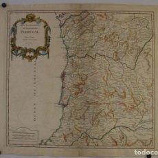 Arte: GRAN MAPA DEL NORTE DE PORTUGAL, 1751. VAUGONDY/DELAMARCHE. Lote 138816262
