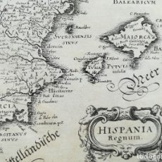 Arte: MAPA ESPAÑA Y PORTUGAL - HISPANIA REGNUM - MERIAN - AÑO 1638 . Lote 139190982
