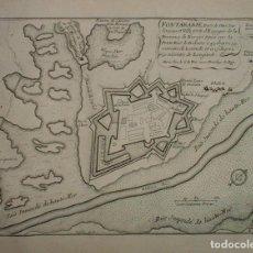Arte: MAPA DE CIUDAD FORTIFICADA DE FUENTERRABÍA (GUIPUZCOA, ESPAÑA), HACIA 1700. NICOLÁS DE FER. Lote 139477642
