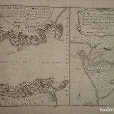 Arte: MAPA DEL ESTRECHO DE GIBRALTAR Y LA BAHÍA DE CÁDIZ (ESPAÑA). 1700. NICOLÁS DE FER. Lote 139478122