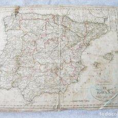 Arte: MAPA GENERAL DE LA PENÍNSULA DE ESPAÑA. POR D. JUAN LÓPEZ. SIGLO XIX.. Lote 139607602