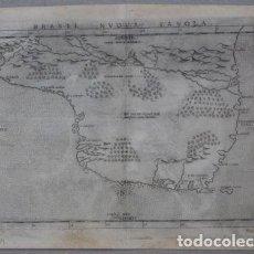 Arte: ANTIGUO MAPA DE BRASIL (AMÉRICA DEL SUR), 1561. PTOLOMEO/RUSCELLI. Lote 140038566