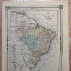 Arte: MAPA DE BRASIL (AMÉRICA DEL SUR), 1852. DUVOTENAY/SMITH/BASSET. Lote 140040050