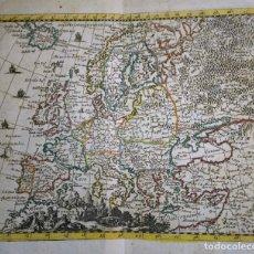 Arte: MAPA ANTIGUO DE EUROPA AÑO 1690 CON CERTIF. AUTENT. MAPAS ANTIGUOS DE EUROPA GENERAL. Lote 140068194