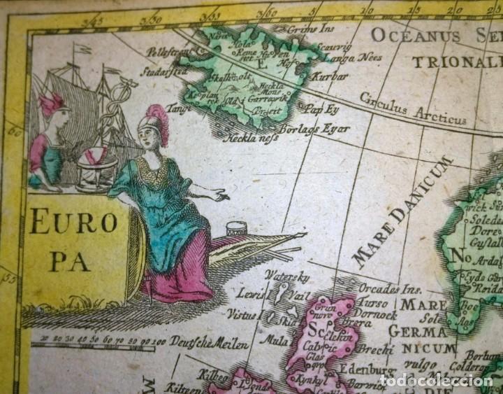 Arte: Mapa antiguo Europa 1739 con certif. autent. Mapas antiguos de Europa general - Foto 2 - 140068358