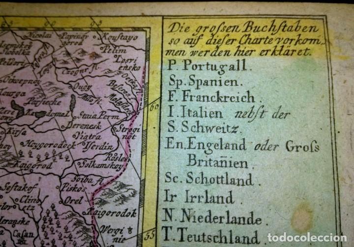 Arte: Mapa antiguo Europa 1739 con certif. autent. Mapas antiguos de Europa general - Foto 3 - 140068358