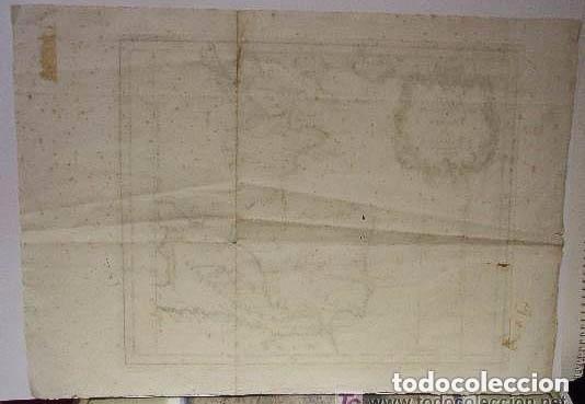 Arte: MAPA DE ESPAÑA S. XVIII, ORIGINAL, ENMARCADO DE NUEVO - Foto 6 - 140396046