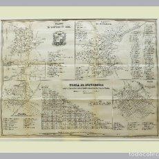 Arte: 1853 - CUBA - PLANOS DE SANTIAGO, MATANZAS, PUERTO PRÍNCIPE Y TRINIDAD. Lote 234355420