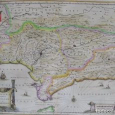 Arte: ANDALUCÍA, MAPA POR JANSSONIUS, 1636, ANDALUZIA CONTINENS SEVILLAM ET CORDUBAM. Lote 140561774