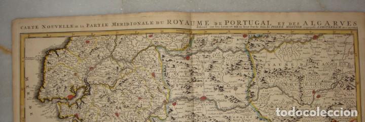 Arte: Mapa Grabado del Sur de España y Portugal, Johannes Covens y Cornelis Mortier, 1720-1772 - Foto 4 - 140719930