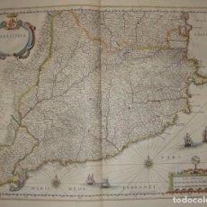 Arte: MAPA GRABADO DE CATALUÑA DEL S.XVII. CATALONIA. 1638.. Lote 140721518
