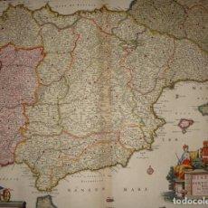 Arte: MAPA GRABADO DE ESPAÑA Y PORTUGAL. 1680. VISSCHER NICOLAS. HISPANIA ET PORTUGALLIAE REGNA.. Lote 140758750