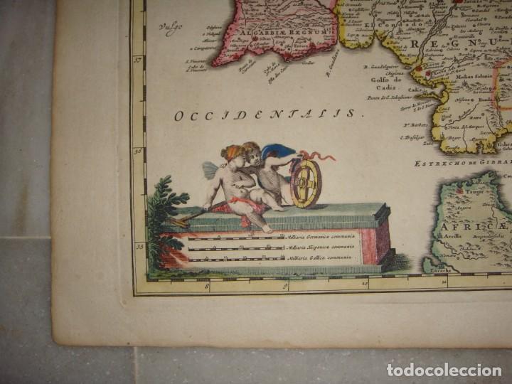 Arte: Mapa Grabado de España y Portugal. 1680. VISSCHER NICOLAS. Hispania et Portugalliae Regna. - Foto 4 - 140758750
