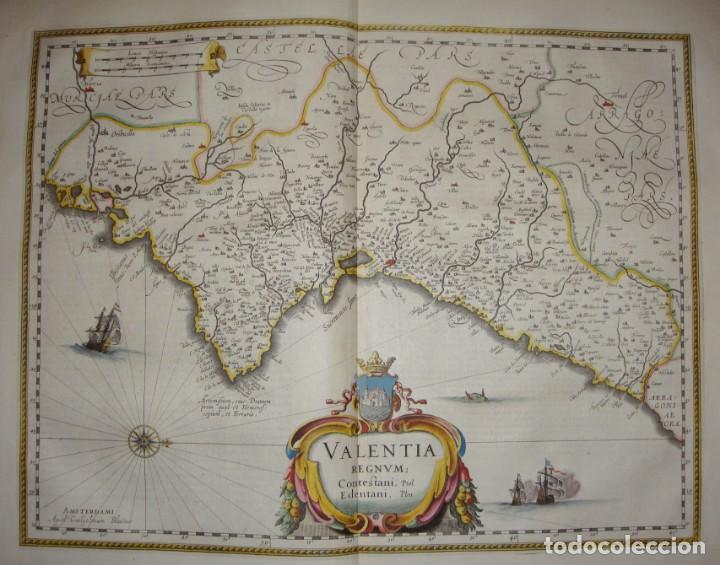MAPA GRABADO DE VALENCIA. 1634. KREMER, GERHARD. VALENTIA REGNUM. (Arte - Cartografía Antigua (hasta S. XIX))