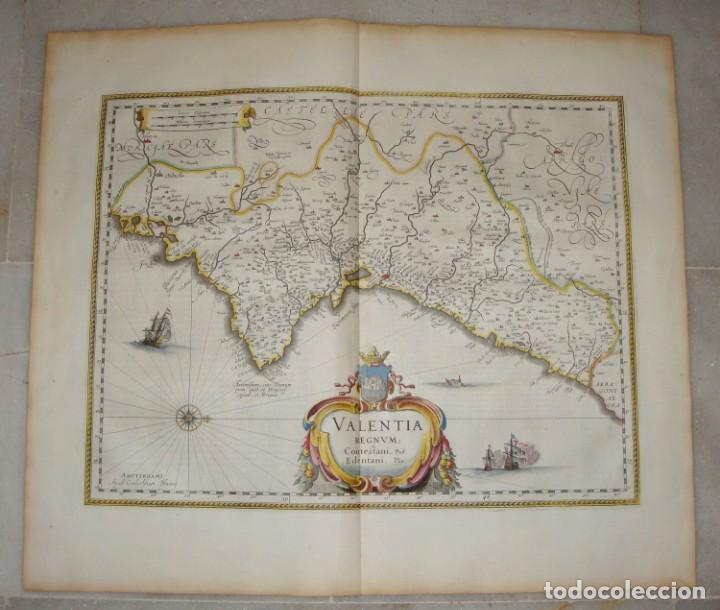 Arte: Mapa Grabado de Valencia. 1634. Kremer, Gerhard. Valentia Regnum. - Foto 2 - 140872542