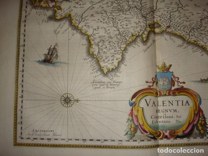 Arte: Mapa Grabado de Valencia. 1634. Kremer, Gerhard. Valentia Regnum. - Foto 4 - 140872542