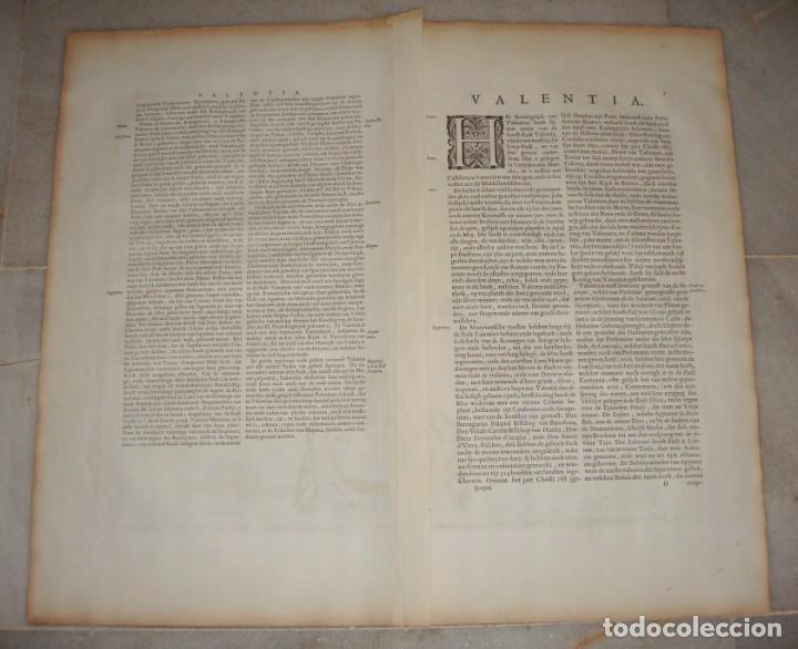 Arte: Mapa Grabado de Valencia. 1634. Kremer, Gerhard. Valentia Regnum. - Foto 5 - 140872542