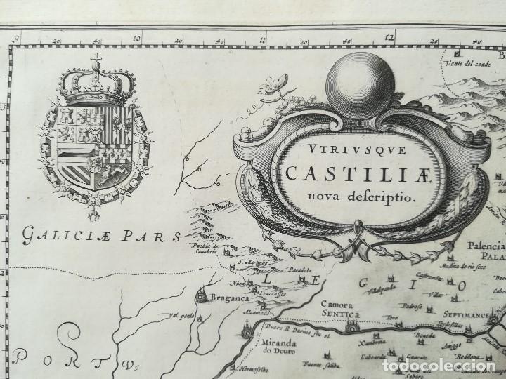 MAPA DE CASTILLA - W. BLAEU - AÑO 1634 PRIMERA EDICION - ORIGINAL (Arte - Cartografía Antigua (hasta S. XIX))
