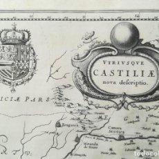 Arte: MAPA DE CASTILLA - W. BLAEU - AÑO 1634 PRIMERA EDICION - ORIGINAL. Lote 141069342