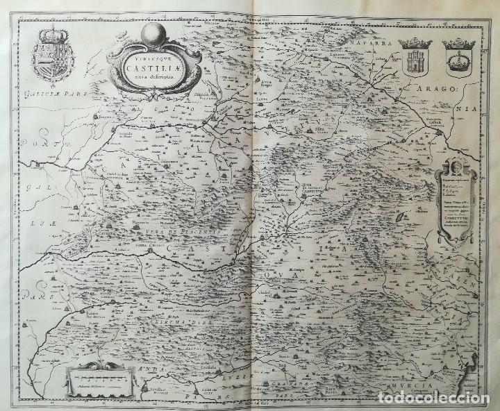 Arte: MAPA DE CASTILLA - W. BLAEU - AÑO 1634 PRIMERA EDICION - ORIGINAL - Foto 2 - 141069342