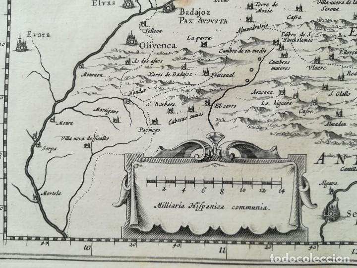 Arte: MAPA DE CASTILLA - W. BLAEU - AÑO 1634 PRIMERA EDICION - ORIGINAL - Foto 3 - 141069342