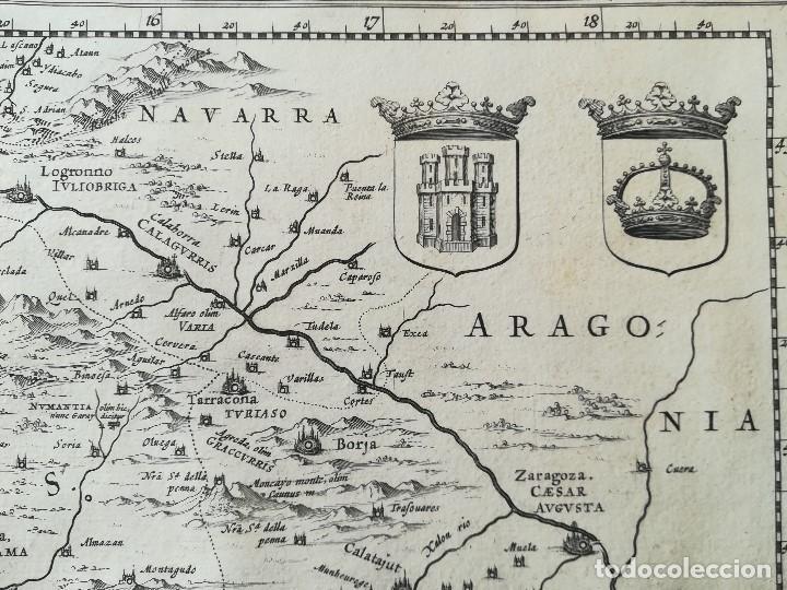 Arte: MAPA DE CASTILLA - W. BLAEU - AÑO 1634 PRIMERA EDICION - ORIGINAL - Foto 4 - 141069342