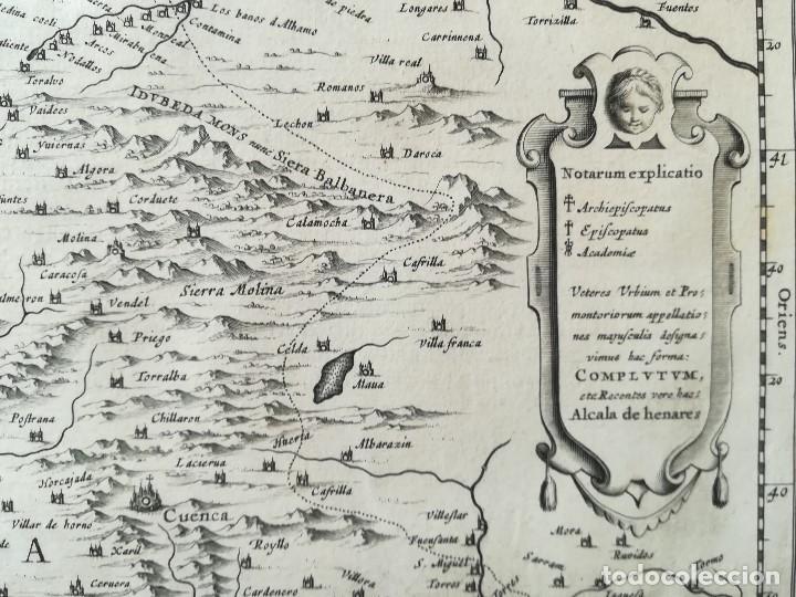 Arte: MAPA DE CASTILLA - W. BLAEU - AÑO 1634 PRIMERA EDICION - ORIGINAL - Foto 5 - 141069342