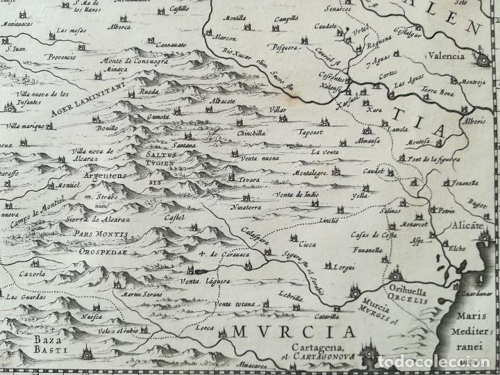 Arte: MAPA DE CASTILLA - W. BLAEU - AÑO 1634 PRIMERA EDICION - ORIGINAL - Foto 6 - 141069342