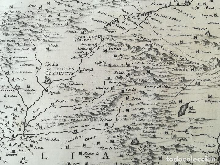 Arte: MAPA DE CASTILLA - W. BLAEU - AÑO 1634 PRIMERA EDICION - ORIGINAL - Foto 7 - 141069342
